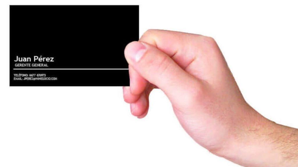 Datos infaltables en tu tarjeta de presentación