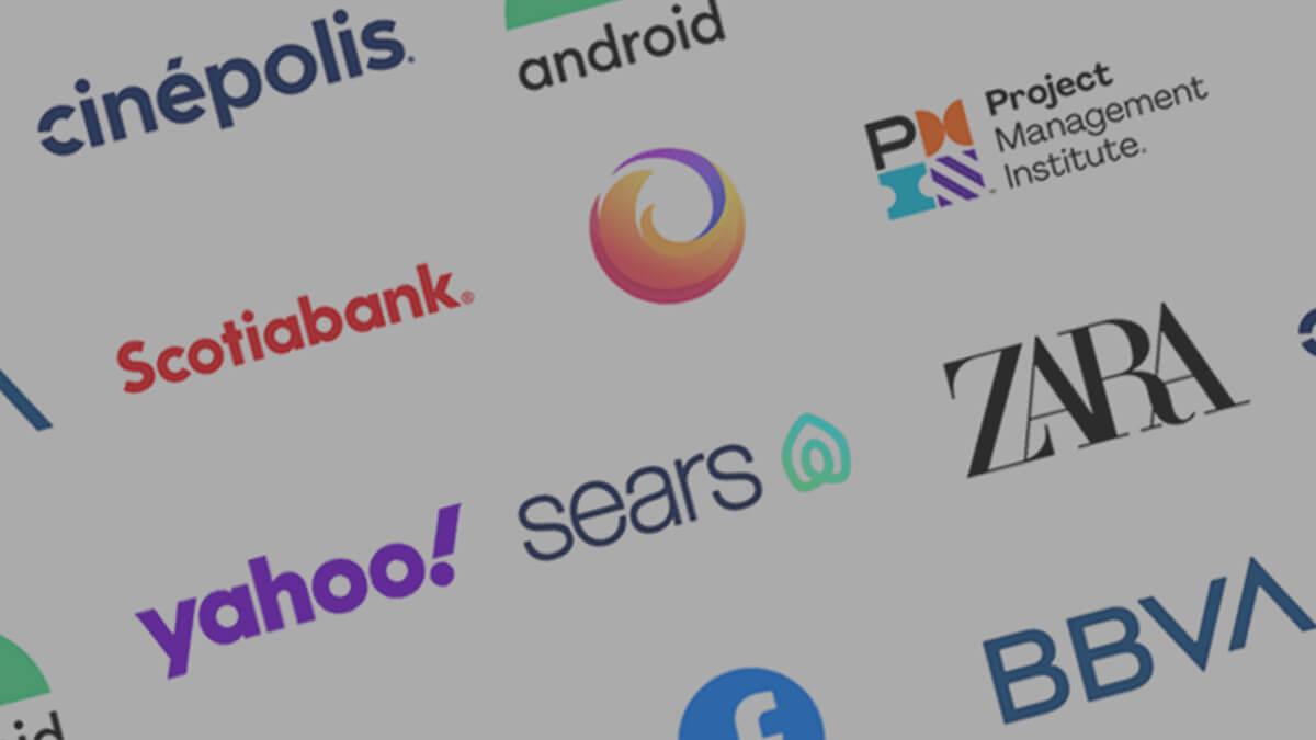 Rediseño de logos en los últimos años