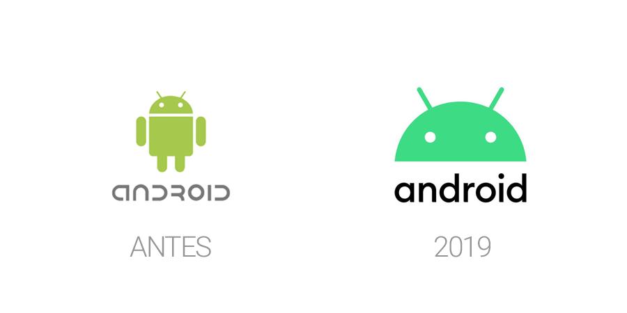Rediseños de logos en 2019 - Android