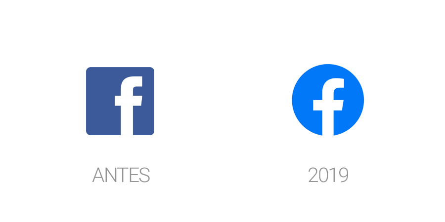 Rediseños de logos en 2019 - Facebook