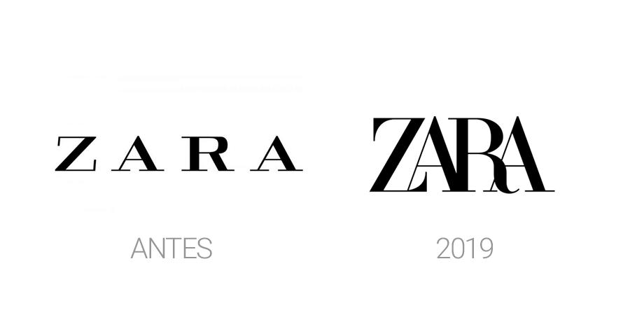 Rediseños de logos en 2019 - Zara