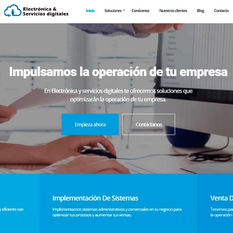 Sitio web Electrónica y Servicios Digitales