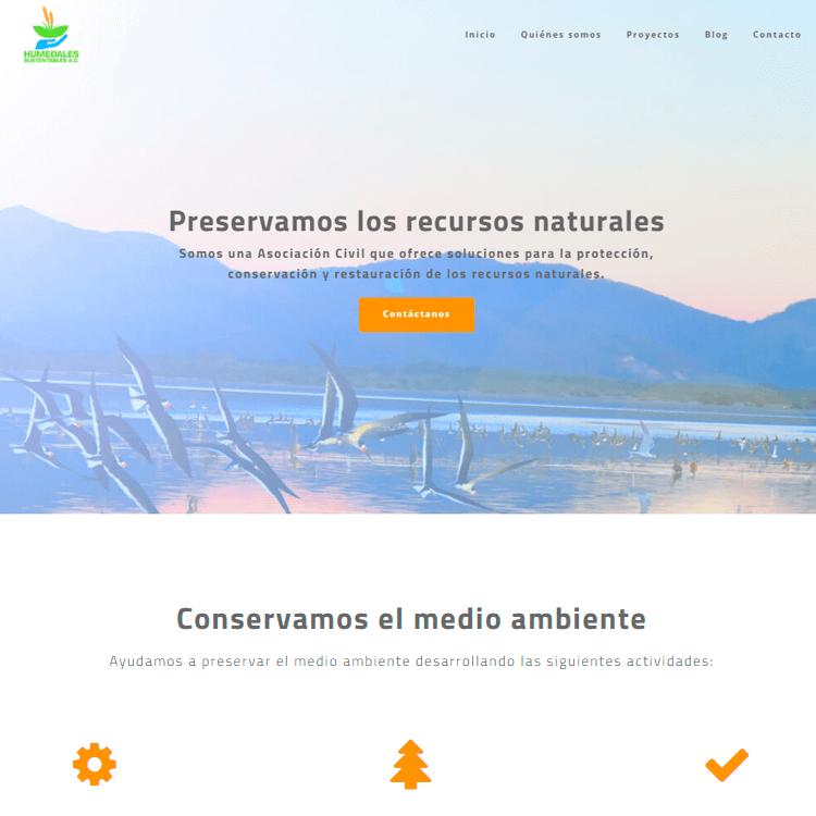 Sitio web Humedales Sustentables S.C.