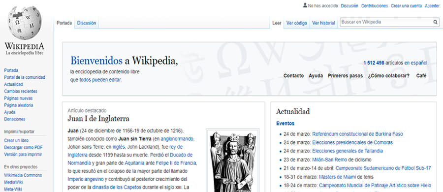 wikipedia es la enciclopedia en línea más grande del mundo