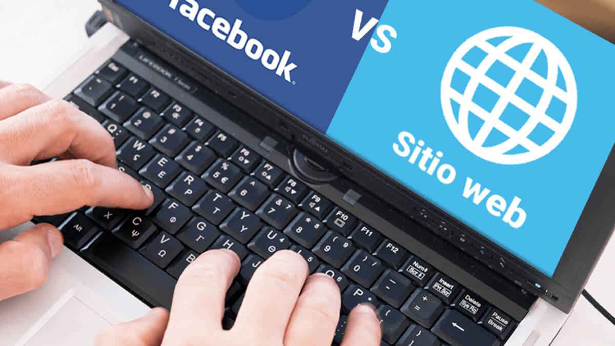 Sitio web vs Facebook: Cuál usar en tu negocio