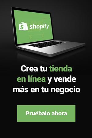Prueba Shopify y crea tu nueva tienda en línea
